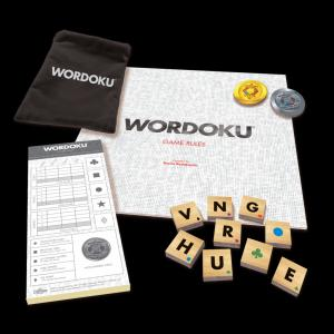 Wordoku is a combination crossword-sudoku word game for one to six players. In the game, players race to create words and earn points using wooden letter tiles on a 4x4 grid. (Deseret Photo)