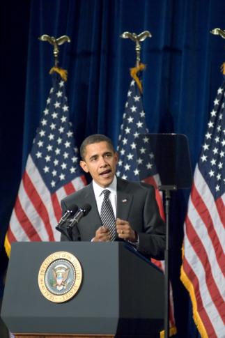 President Barack Obama is often the subject of The Onion's parody news articles. (Deseret Photo)