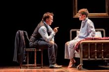 "Harry Potter (Jamie Parker) lectures his son (Sam Clemmett) in ""Harry Potter and the Cursed Child."" (Deseret Photo)"