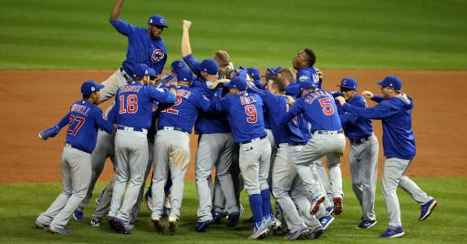 "The Chicago Cubs celebrate after their remarkable World Series win, which has been released in its entirety on the new Blu-ray/DVD eight-disc set ""2016 World Series Collector's Edition: Chicago Cubs."" (Deseret Photo)"
