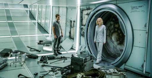 "Chris Pratt and Jennifer Lawrence star in ""Passengers."" (Deseret Photo)"