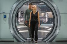 "Jim (Chris Pratt) and Aurora (Jennifer Lawrence) try to make sense of a mess in ""Passengers."" (Deseret Photo)"