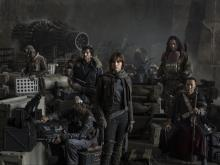 """Riz Ahmed, left, Diego Luna, Felicity Jones, Jiang Wen and Donnie Yen star in """"Rogue One: A Star Wars Story."""" (Deseret Photo)"""