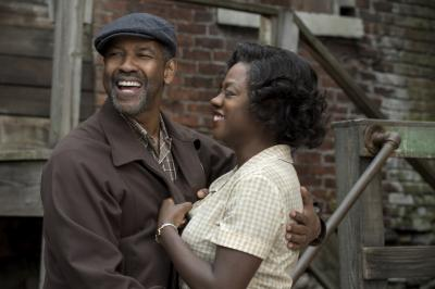 "Denzel Washington, left, as Troy Maxson and Viola Davis as Rose Maxson in ""Fences."" (Deseret Photo)"