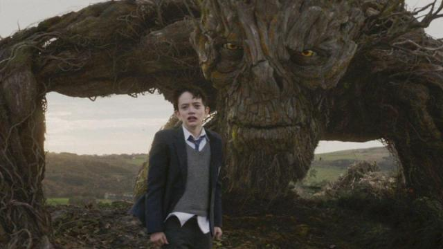 Liam Neeson and Lewis MacDougall in A Monster Calls (2016) (Deseret Photo)