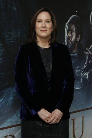 "Kathleen Kennedy poses for photographers upon arrival at the ""Rogue One: A Star Wars Story"" fan screening in London. (Deseret Photo)"