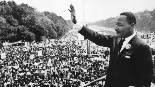 "Martin Luther King waves to the crowd in a moment from Henry Louis Gates Jr.'s PBS documentary ""Black America Since MLK: And Still I Rise,"" now on DVD. (Deseret Photo)"