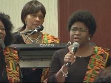 Gospel band inspires audiences at MLK breakfast