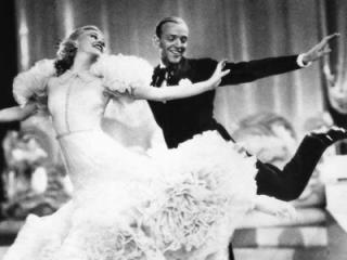 """Ginger Rogers and Fred Astaire trip the light fantastic in one of their best musical comedies, """"Swing Time"""" (1936). (Deseret Photo)"""