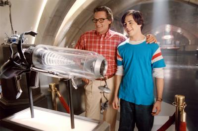 "Kurt Russell as Steve Stronghold and Michael Angarano as Will Stronghold in ""Sky High."" (Deseret Photo)"