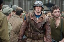 "Center to right: Chris Evans plays Captain America and Sebastian Stan plays James ""Bucky"" Barnes in ""Captain America: The First Avenger,"" from Paramount Pictures and Marvel Entertainment. (Deseret Photo)"
