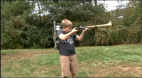 Enemies beware, because this kid has an assault trombone. Yeah, an assault trombone. (Deseret Photo)
