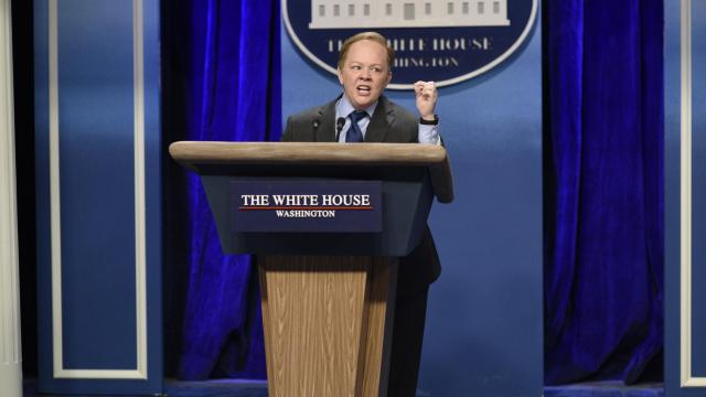 "Melissa McCarthy as Press Secretary Sean Spicer on ""Saturday Night Live."" (Deseret Photo)"