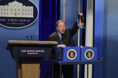 "Melissa McCarthy as Press Secretary Sean Spicer on ""Saturday Night Live. (Deseret Photo)"