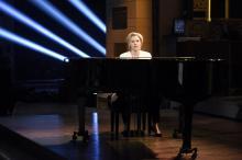 "Kate McKinnon as Hillary Clinton sings Leonard Cohen's ""Hallelujah"" on ""Saturday Night Live."" (Deseret Photo)"