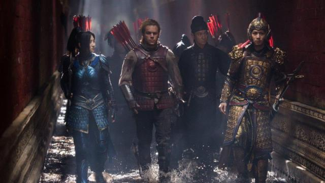 Matt Damon, Tian Jing, Lu Han, and Kenny Lin in The Great Wall (2016) (Deseret Photo)