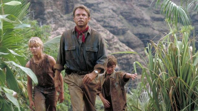 Sam Neill, Ariana Richards, and Joseph Mazzello in Jurassic Park (1993) (Deseret Photo)