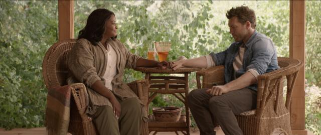 "Papa (Octavia Spencer) and Mack Phillips (Sam Worthington) in ""The Shack."" (Deseret Photo)"