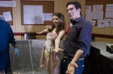 "Anna Kendrick and Director Jeffrey Blitz on the set of ""Table 19."" (Deseret Photo)"