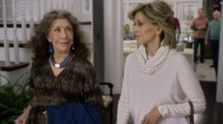 """Lily Tomlin, left, and Jane Fonda star in the sitcom """"Grace and Frankie."""" Season 2 is now on DVD. (Deseret Photo)"""