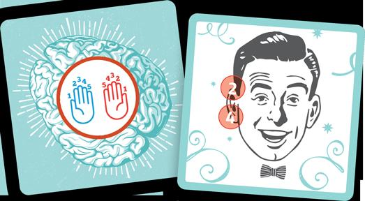 These cards require gamers to use the correct hand to touch parts of their faces very quickly. (Deseret Photo)