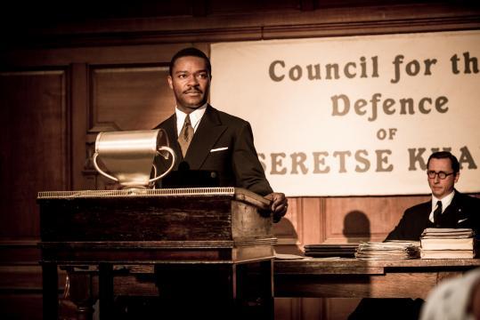 """David Oyelowo as Seretse Khama and Nicholas Rowe as Fenner Brockway in """"A United Kingdom."""" (Deseret Photo)"""