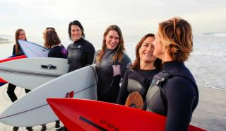 """The movement by women surfers to be recognized in competition is one of the themes of the documentary """"It Ain't Pretty,"""" now on DVD. (Deseret Photo)"""