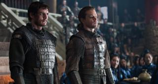 """Pedro Pascal as Pero Tovar and Matt Damon as William Garin in """"The Great Wall."""" (Deseret Photo)"""