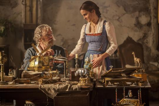 """In Disney's """"Beauty and the Best,"""" a live-action adaptation of the studio's animated classic, Emma Watson, right, stars as Belle and Kevin Kline is Maurice, Belle's father. (Deseret Photo)"""