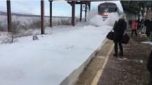 IMAGE: Have You Seen This? Slow-mo train collision with snowbank