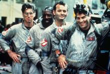 """Harold Ramis, left, Ernie Hudson, Bill Murray and Dan Aykroyd are the original """"Ghostbusters"""" in the 1984 PG-rated comedy. (Deseret Photo)"""