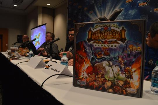 Super Dungeon Explore is displayed on the table of a FanX panel session on tabletop gaming. (Deseret Photo)