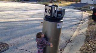 This little girl has given me faith in humanity. Her excitement for what she thinks is a robot is not what my reaction would be. She's better than all of us. (Deseret Photo)