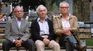 """George Burns, left, Lee Strasberg and Art Carney star in """"Going in Style,"""" a 1980 comedy that has been remade. (Deseret Photo)"""