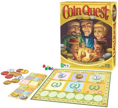 In the winner-take-all game of Coin Quest, you are part of a mysterious cabal of elite coin collectors. Outbid and outsmart your peers in an informal auction to acquire better coins. In this deck-building game, coins replace cards. The shrewdest collector will be the one who goes home with all the coins. (Deseret Photo)