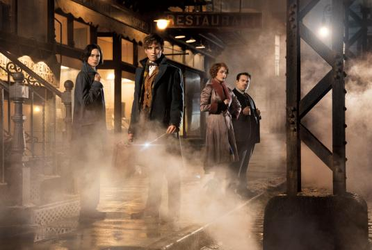 """Katherine Waterston plays Tina, Eddie Redmayne is Newt Scamander, Alison Sudol plays Queenie and Dan Fogler is Jacob in Warner Bros. Pictures' """"Fantastic Beasts and Where to Find Them."""" (Deseret Photo)"""