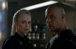 """Charlize Theron and Vin Diesel in """"The Fate of the Furious."""" (Deseret Photo)"""