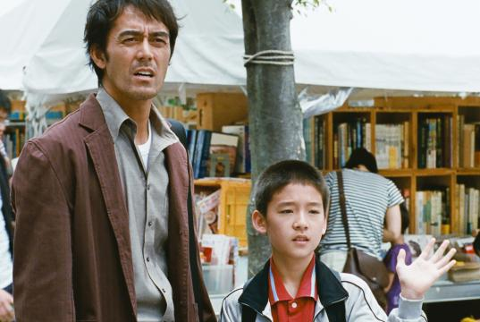 "Hiroshi Abe and Taiyo Yosizawa in ""After the Storm."" (Deseret Photo)"