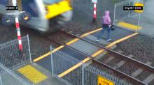IMAGE: Have You Seen This? Pedestrian's close call with train