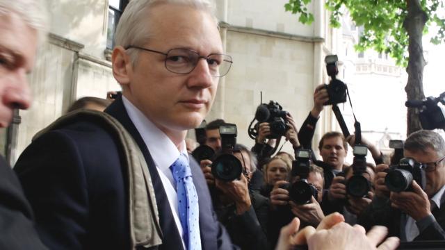 "Julian Assange in ""Risk."" (Deseret Photo)"