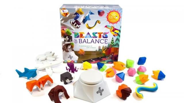 Beasts of Balance includes an electronic plinth and 24 beautiful Artefacts designed to stack in fun and surprising ways. (Deseret Photo)