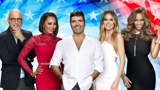"""""""America's Got Talent"""" judges (from left to right) Howie Mandel, Mel B, creator and judge Simon Cowell, Heidi Klum and host Tyra Banks. Young ventriloquist Darci Lynne wowed this group in a viral video featured on today's The Clean Cut. (Deseret Photo)"""