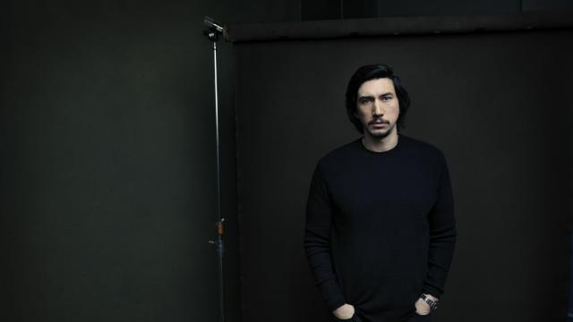 "Adam Driver in Los Angeles, Dec. 3, 2017. Driver portrays the sullen evildoer Kylo Ren in ""Star Wars: The Last Jedi,"" the eighth episode in the science-fiction saga that George Lucas started in 1977. (Jesse Dittmar/The New York Times)"