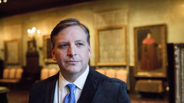 Anthony Amore, the director of security at the Isabella Stewart Gardner Museum in Boston, Dec. 5, 2017. Until 2018 begins, a $10 million reward remains on the table for information leading to the return of various pieces of art stolen from the museum in 1990. (M. Scott Brauer/The New York Times)