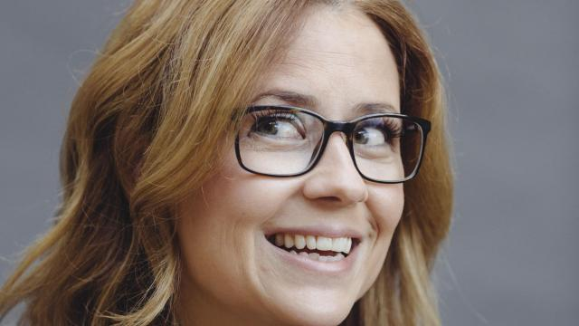 """Actress Jenna Fischer in Glendale, Calif., Dec. 20, 2017. Fischer's first acting job was a few lines in a sex-ed video, but they helped launch the career of the star of """"The Office."""" She has just published """"The Actor's Life: A Survival Guide."""" (Elizabeth Weinberg/The New York Times)"""