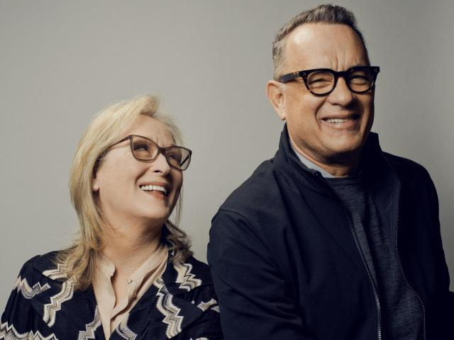 """Meryl Streep and Tom Hanks, who star together in """"The Post,"""" in New York, Dec. 8, 2017. """"The Post"""" tells of the tense days leading up to The Washington Post's decision in 1971 to publish the Pentagon Papers, the government's secret history of the Vietnam War. (Ryan Pfluger/The New York Times)"""