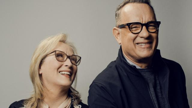 "Meryl Streep and Tom Hanks, who star together in ""The Post,"" in New York, Dec. 8, 2017. ""The Post"" tells of the tense days leading up to The Washington Post's decision in 1971 to publish the Pentagon Papers, the government's secret history of the Vietnam War. (Ryan Pfluger/The New York Times)"