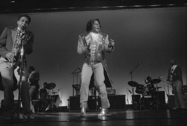 FILE — James Brown performs at the Paramount in New York, Feb. 28, 1992. More than 11 years after the Godfather of Soul's death, his hope of providing for underprivileged children remains entangled by conflict and lawsuits. (Angel Franco/The New York Times)
