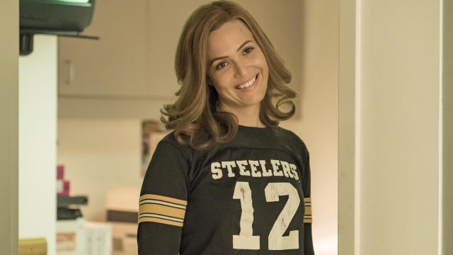 "THIS IS US -- ""Super Bowl Sunday"" Episode 214 -- Pictured: Mandy Moore as Rebecca -- (Photo by: Ron Batzdorff/NBC)"