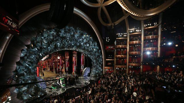 FILE — The 90th Academy Awards, at the Dolby Theatre in Los Angeles, March 4, 2018. Alarmed by plunging television ratings, Oscars organizers announced on Aug. 8 the addition of a category for blockbuster films, and a shorter telecast with some some statuettes given out during commercial breaks. The former change quickly drew criticism from many quarters. (Patrick T. Fallon/The New York Times)